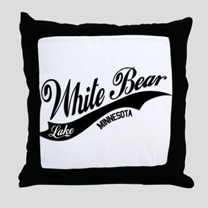 White Bear Lake, MN Throw Pillow
